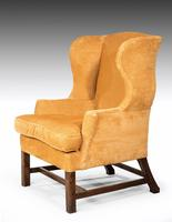 George III Period Mahogany Wing Chair (5 of 5)