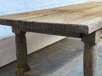 Rare Large & Deep Oak Farmhouse Dining Table (15 of 31)