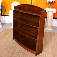 Oak Open Bookcase Bowfront Waterfall Bookshelves (7 of 9)