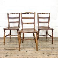 Set of Three Antique Elm Chairs