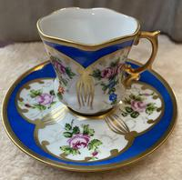 Limoges Hand Painted Cup and Saucer (3 of 4)