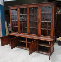 1920s Large 4 Door Oak Bookcase (2 of 4)