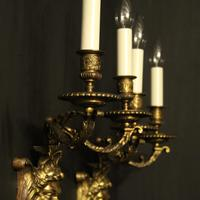 French 19th Century Bronze Bacchus Antique Wall Sconces (9 of 10)