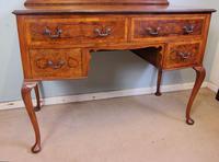 Burr Walnut Queen Anne Style Triple Mirror Dressing Table (13 of 13)