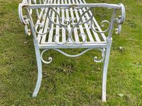 Large French Art Deco Style Fleur De Lis Garden Double Bowed  Curved Bench Seats 3 (13 of 37)