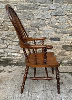 Pair of Antique Broad Arm Windsor Chairs (12 of 28)
