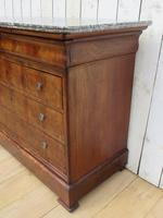 Antique French Marble Top Chest Of Drawers (6 of 12)