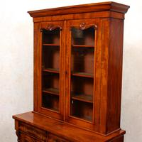Library Glazed Bookcase Mahogany 19th Century Victorian Display Cabinet (9 of 11)