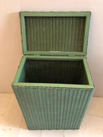 Original Green Lloyd Loom Laundry Basket (2 of 6)