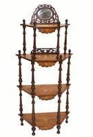Victorian Whatnot Bookshelf Antique 1860 Furniture (8 of 13)