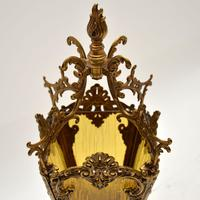 Antique French Gilt Metal & Glass Cherub Table Lamp (11 of 12)