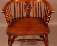Yew Wood High Windsor Chair c.1850 (4 of 9)