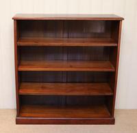 Edwardian Mahogany Open Bookcase c.1910 (4 of 11)
