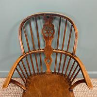 Georgian Wheel Back Antique Windsor Chair (4 of 6)