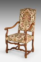 Pair of Beech Wood 17th Century Design Armchairs c.1900 (2 of 6)