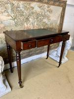 Victorian Mahogany Writing Desk with Green Leather (3 of 9)