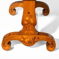 Victorian Walnut Marquetry Writing Table attributed to Edward Holmes Baldock (15 of 17)