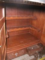Ornately Carved Oak Old Charm Cocktail Cabinet (2 of 2)