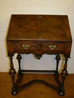 Lovely William & Mary Design Walnut Bureau (3 of 9)