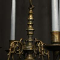 English Pair of Bronze Antique Chandeliers (8 of 10)