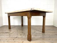 Antique Oak Scrub Top Kitchen Table (2 of 11)