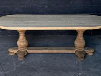 Large French Bleached Oak Monastery Dining Table (2 of 18)