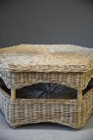 Large Natural Wicker Coffee Table (10 of 12)