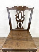 Set of Four Country Oak Dining Chairs (7 of 10)