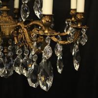 Italian Gilded 15 Light Antique Chandelier (4 of 10)