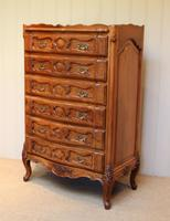 French Cherry Wood Tall Chest of Drawers (9 of 12)