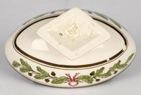 Wedgwood Etruria Acorn Pattern Creamware Pottery Salt 1882 (6 of 11)