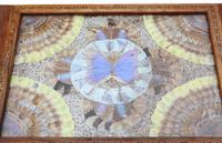Inlaid Tunbridge Ware Butterfly Serving Tray c.1920 (2 of 5)