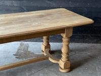 French Bleached Oak Refectory Farmhouse Dining Table (24 of 26)