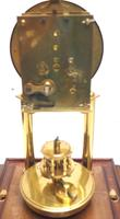 Rare Gustav Becker 400-day Torsion Clock German Mantel Clock Mahogany & Bevelled Glass Case (11 of 13)
