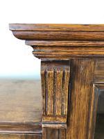 19th Century Antique Oak Breakfront Glazed Bookcase (8 of 15)