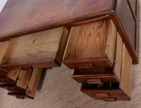Desk Twin Pedestal Mahogany Leather Art Deco (9 of 12)