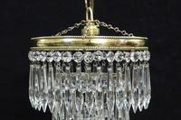 Italian Art Deco three Tier Crystal Glass Chandelier (3 of 5)