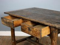 18th Century English Twin Drawer Oak Table (6 of 7)