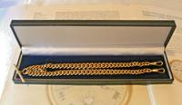 Victorian Pocket Watch Chain 1890 Antique 12ct Rose Rolled Gold Albert & T Bar (11 of 11)