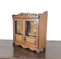 Antique Edwardian Oak Smoker's Cabinet (M-1571) (12 of 12)