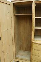 Beautiful! Rare! Old Pine Triple 'Knock Down' Wardrobe (8 of 17)