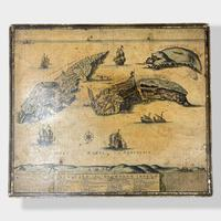 Italian Painted Nest of Tables with Map Prints (8 of 10)