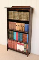 Dark Oak Open Bookcase (3 of 11)