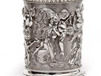Ornate Victorian Electro Formed Silver Plated Lidded Tankard with Figural Scenes of Musicians (10 of 13)