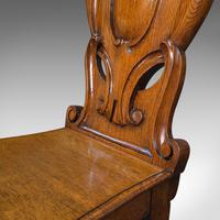 Pair of Antique Shield Back Chairs, Scottish, Oak, Hall Seat, Victorian c.1880 (12 of 12)