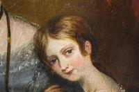 Victorian Oil on Canvas Mother & Daughter Portrait (4 of 10)