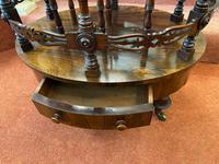 Most Unusual & Very High-quality Rosewood 3-section Canterbury of Oval Shape (6 of 6)