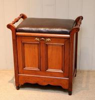 Edwardian Walnut Piano Stool