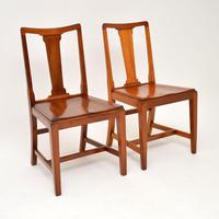 Pair of Art Deco Vintage Solid Mahogany Side Chairs (9 of 11)