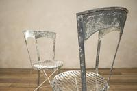 Charming Pair of Small French Metal Garden Chairs (3 of 13)